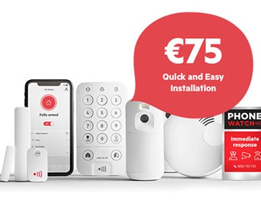 PhoneWatch Home Safety System Installation for €75 (RRP €199)